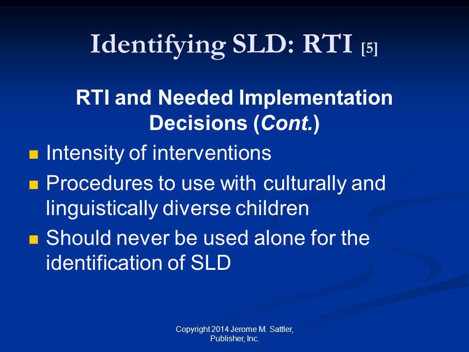 Identifying SLD: RTI [5]